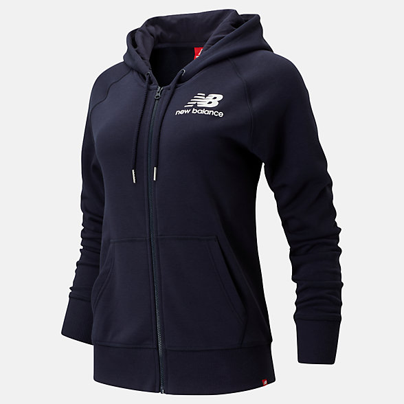 New Balance Essentials Full Zip Hoodie, WJ91524ECL