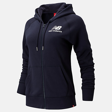 New Balance Essentials Full Zip Hoodie, WJ91524ECL image number null