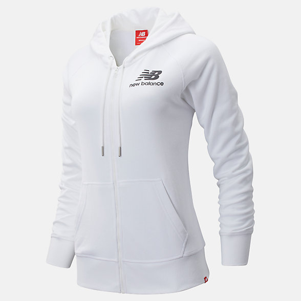 NB Felpa Con Cappuccio Essentials Full Zip, WJ91524WK