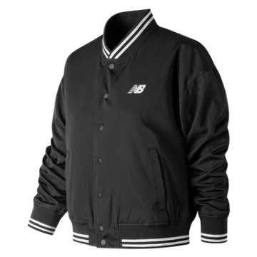 New Balance Womens Day Stadium Jacket, Black