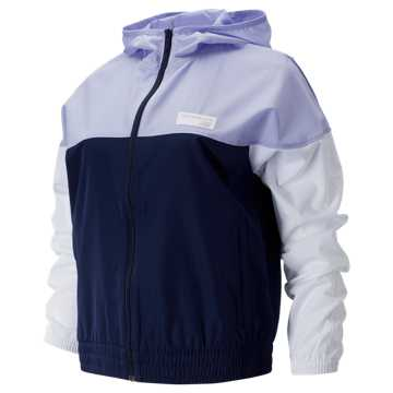 New Balance NB Athletics Windbreaker, Pigment with White