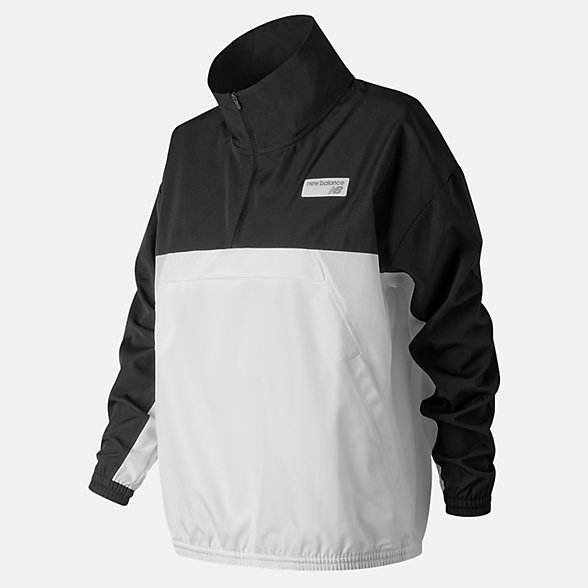 NB NB Athletics Windbreaker Pullover, WJ91557BK