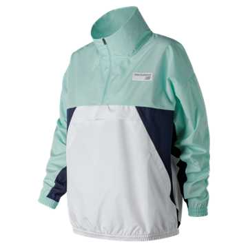 New Balance NB Athletics Windbreaker Pullover, Light Reef