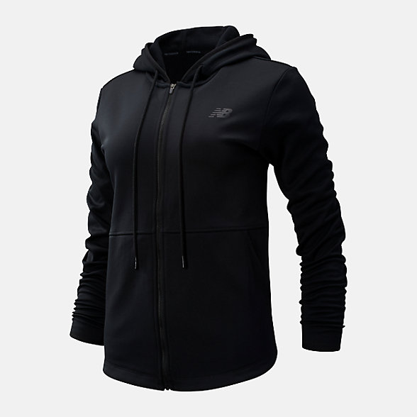 NB Relentless Fleece Full Zip, WJ93137BK