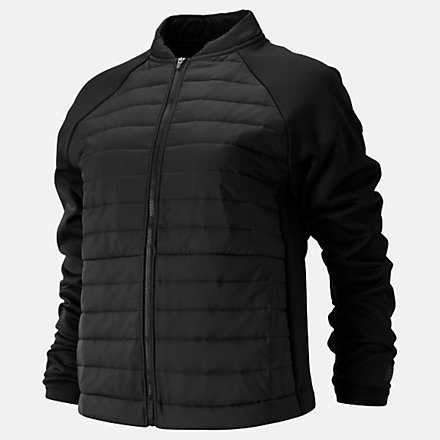NB Relentless Heat Jacket, WJ93143BK image number null