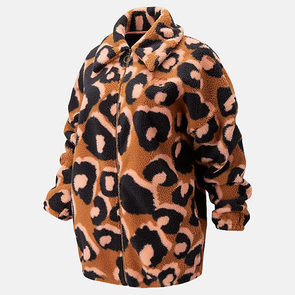 New Balance Glow Cheetah Go Fleece, WJ93186DAM