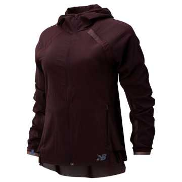 New Balance Q Speed Run Crew Jacket, Henna