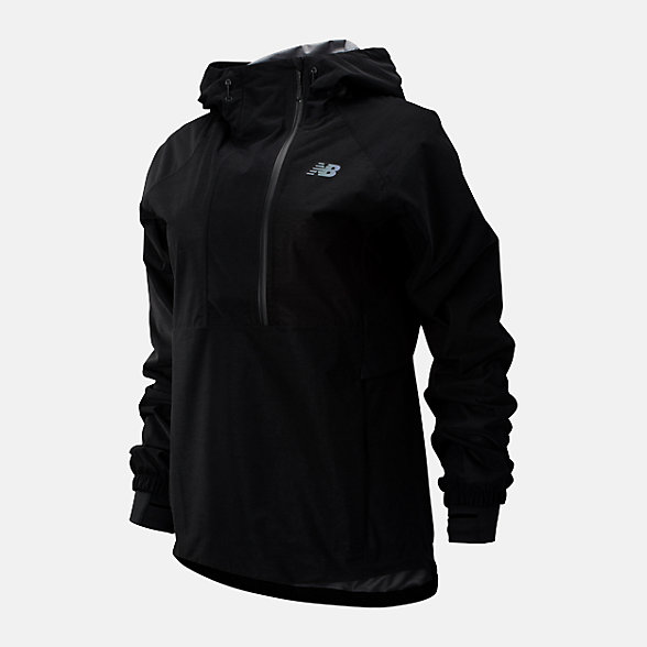 New Balance Q Speed Waterproof Anorak, WJ93259BK