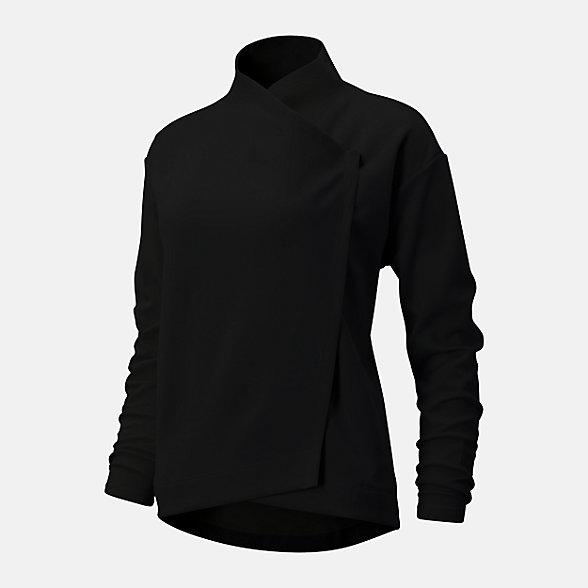 New Balance Balance Asym Jacket, WJ93450BK