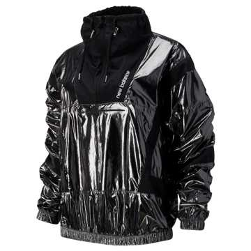 New Balance NB Athletics Select Metallic Windbreaker, Black with Magnet