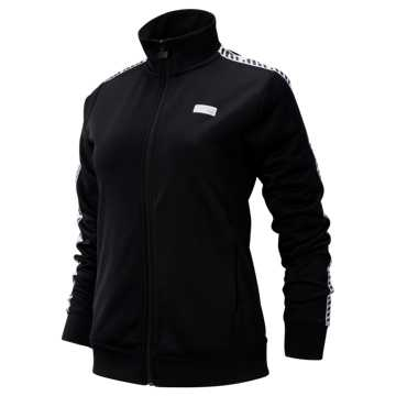 New Balance NB Athletics Classic Track Jacket, Black with White