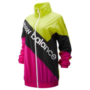 New Balance Sport Style Optiks Windbreaker, Sulphur Yellow with Carnival & Black