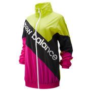 New Balance Sport Style Optiks Windbreaker, Sulphur Yellow with Carnival & Black