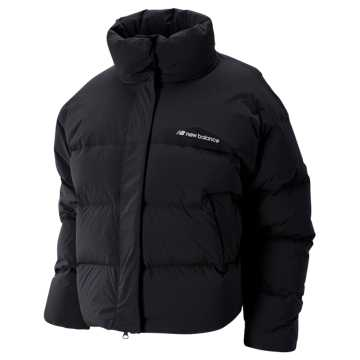 New Balance Sport Style Select Cropped Heat Down Jacket, Black