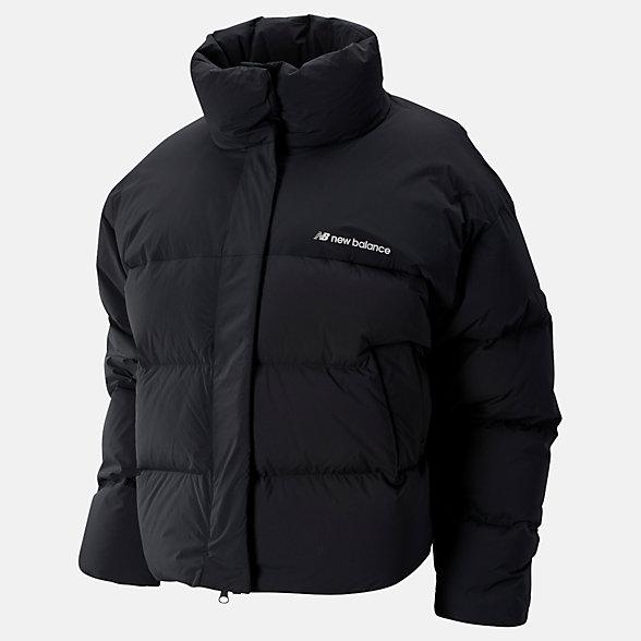 New Balance Sport Style Select Cropped Heat Down Jacket, WJ93512BK