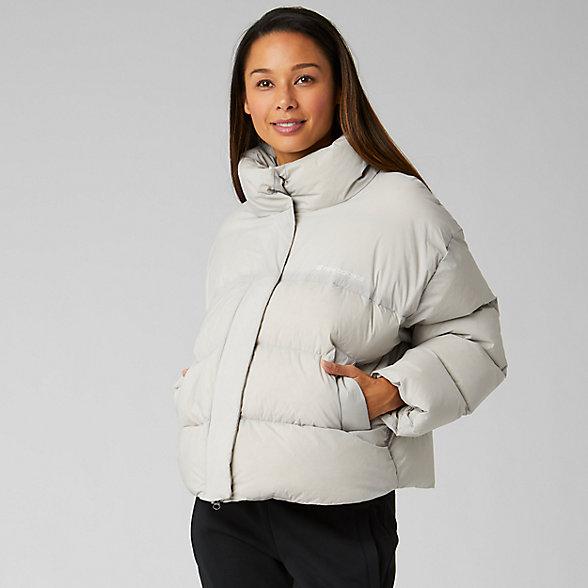 New Balance Sport Style Select Cropped Heat Down Jacket, WJ93512OVC