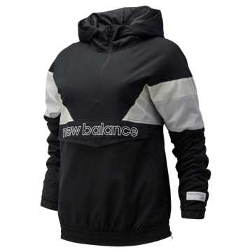 New Balance NB Athletics Stadium Insulated Anorak, Black with Summer Fog & Sea Salt