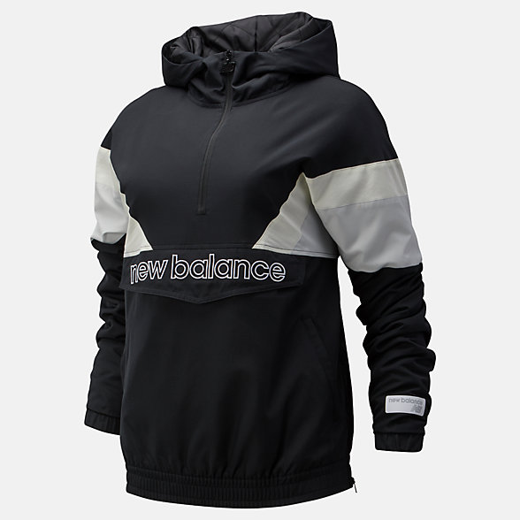 NB NB Athletics Stadium Insulated Anorak, WJ93515BK