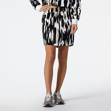 New Balance NB Athletics Collide Printed Terry Skirt, WK11503WHP image number null