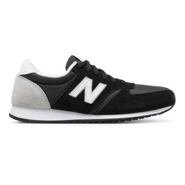New Balance 420 New Balance, Black with White \u0026 Silver Mink