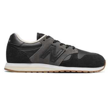 New Balance 520 70's Running, Black with Phantom