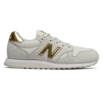 New Balance 520, Sea Salt with Classic Gold