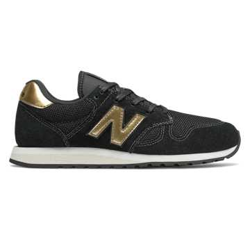 New Balance 520, Black with Gold