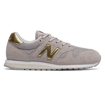 New Balance 520, Light Cashmere with Classic Gold