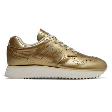 New Balance 520 Platform, Metallic Gold with Moonbeam
