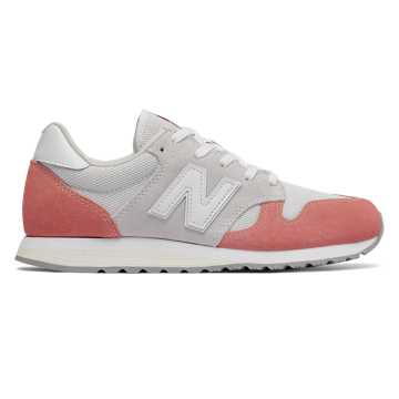 New Balance 520 70s Running, Dusted Peach with White