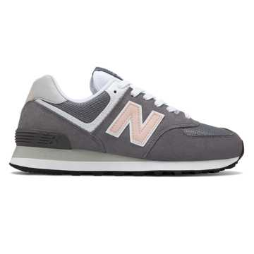 New Balance 574, Castlerock with Oyster Pink