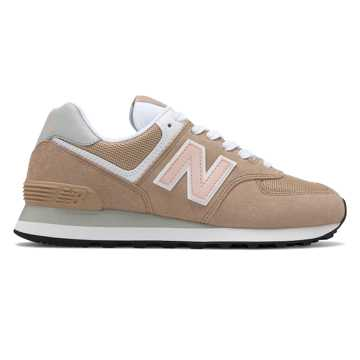 New Balance 574, Hemp with Oyster Pink