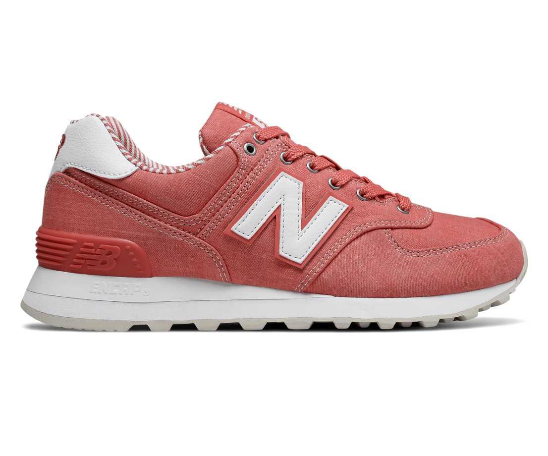 new balance 574 coral