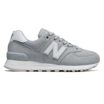 New Balance 574 Beach Chambray, Light Porcelain Blue with White