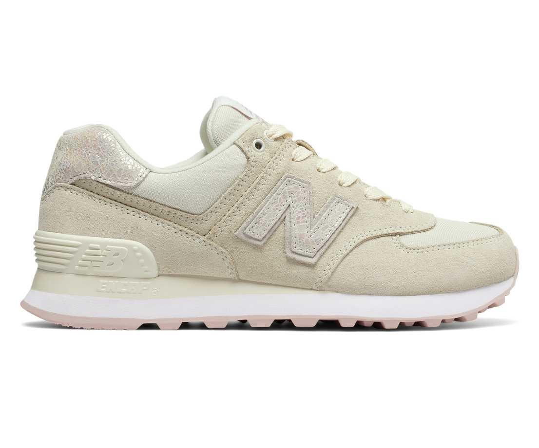 new balance 574 femme beige et rose