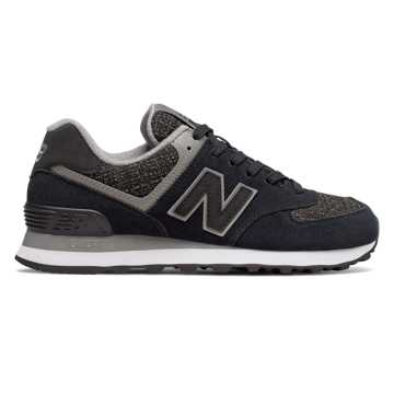 New Balance 574 Winter Nights, Black with Overcast