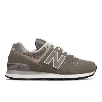 New Balance Women's 574, Grey with White