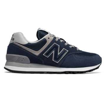 New Balance Women's 574, Navy with White