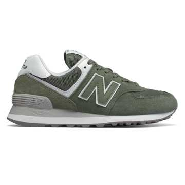 New Balance 574 Essentials, Mineral Green with White