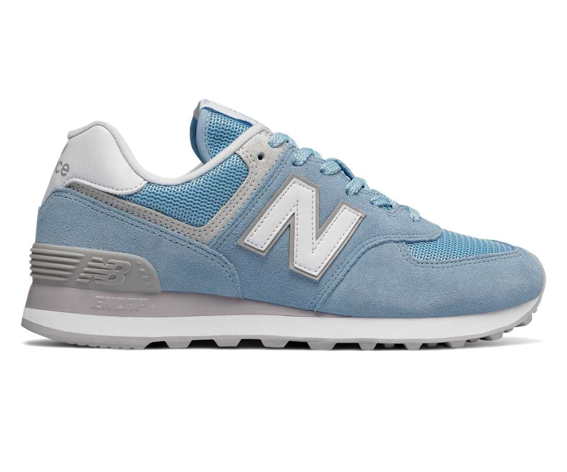 Exclusive New Balance Wl574 Shoes Women Blue Pink N238305