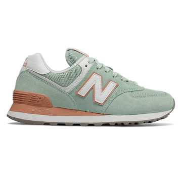 New Balance 574 Essentials, White Agave with Faded Copper