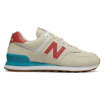 New Balance 574 Summer Dusk, Alabaster with Pomelo