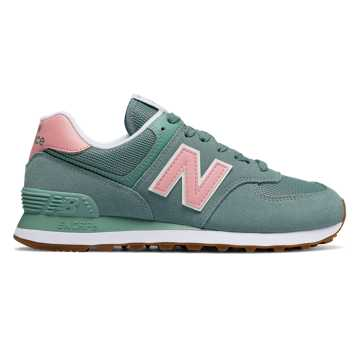 New Balance 574 Summer Dusk, Smoke Blue with Himalayan Pink