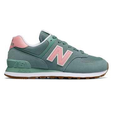 New Balance 574 Summer Dusk, Smoke Blue with Himalayan Pink