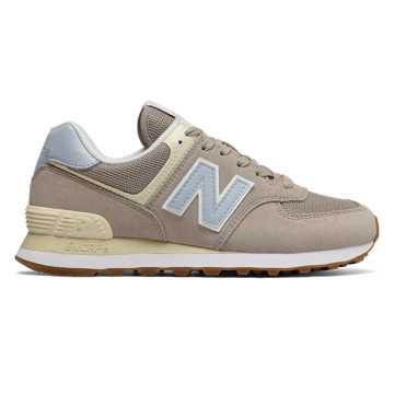 New Balance 574 Summer Dusk, Flat White with Ice Blue