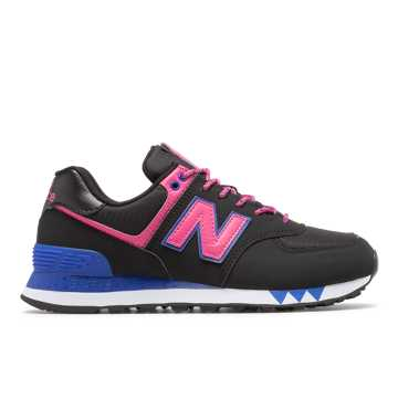 New Balance 574, Black with Pink