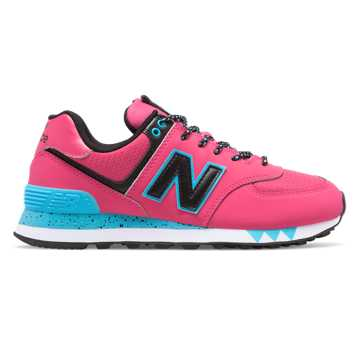 best service c7807 449d8 New Balance 574, Pink with Black