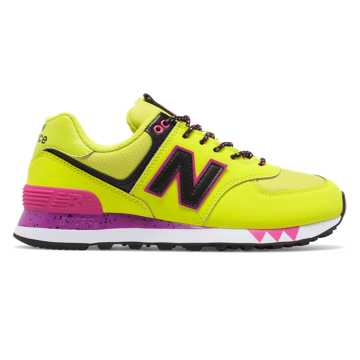 New Balance 574, Lime with Black