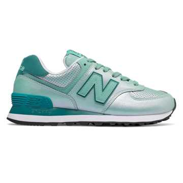 New Balance 574 Sheen Pack, Mineral Sage with Outer Banks