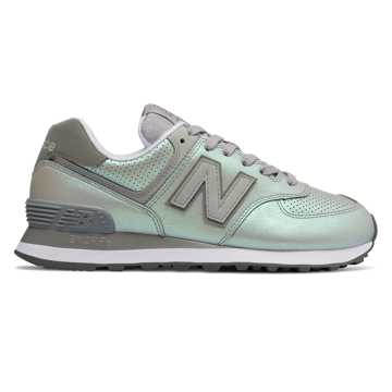 New Balance 574 Sheen Pack, Rain Cloud with Marblehead
